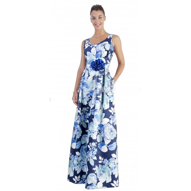 Vestido largo flores grandes